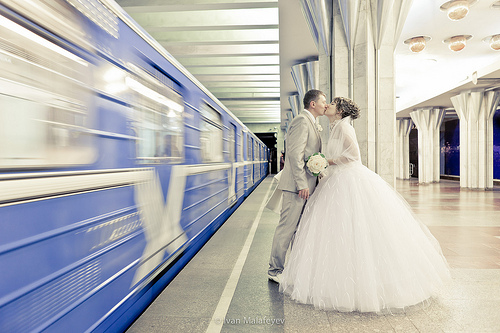 Public Transportation Wedding